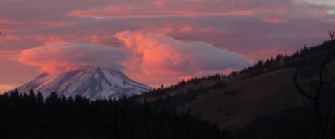 Mt. Adams last night - Photo by Temira