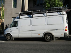 White Sprinter van of the day