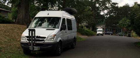 Sprinter Vans sleeping by the Children's Park - Photo by DVC